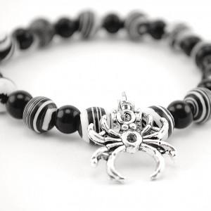 agate and quartz bracelet spider