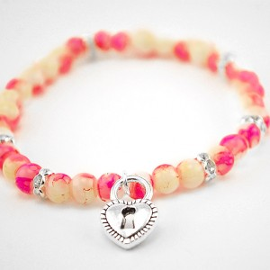 agate bracelet heart