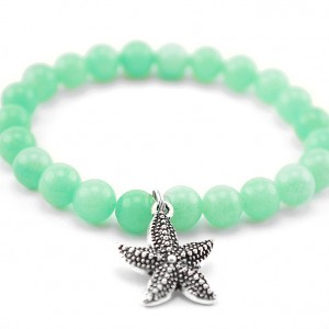 aquamarine starfish bracelet