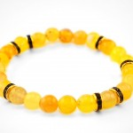 yellow agate pracelet