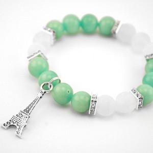 agate, aquamarine bracelet