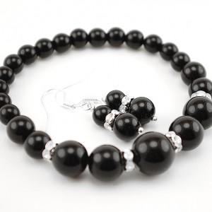 agate bracelet and earrings