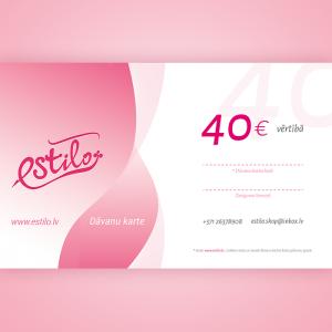 dāvanu karte 40 eiro